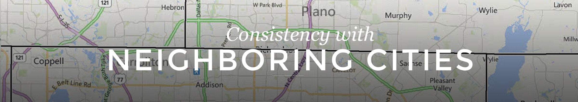 Consistency with Neighboring Cities
